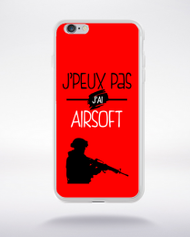 Coque j'peux pas j'ai airsoft 4 compatible iphone 6 transparent