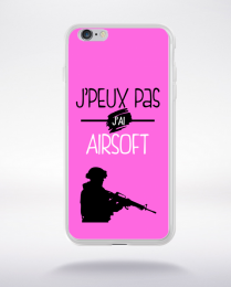 Coque j'peux pas j'ai airsoft 7 compatible iphone 6 transparent