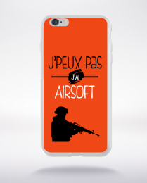 Coque j'peux pas j'ai airsoft 8 compatible iphone 6 transparent