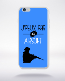 Coque j'peux pas j'ai airsoft 10 compatible iphone 6 transparent