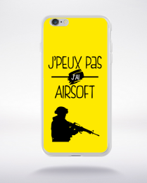 Coque j'peux pas j'ai airsoft 3 compatible iphone 6 transparent