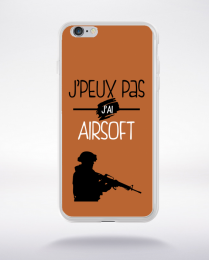 Coque j'peux pas j'ai airsoft 6 compatible iphone 6 transparent