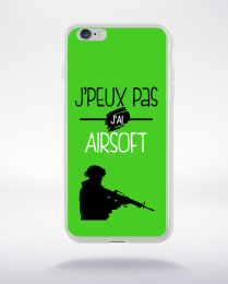 Coque j'peux pas j'ai airsoft 9 compatible iphone 6 transparent