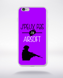 Coque j'peux pas j'ai airsoft 5 compatible iphone 6 transparent