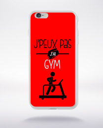 Coque j'peux pas j'ai gym 4 compatible iphone 6 transparent
