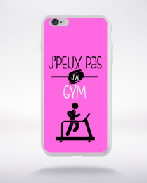 Coque j'peux pas j'ai gym 7 compatible iphone 6 transparent
