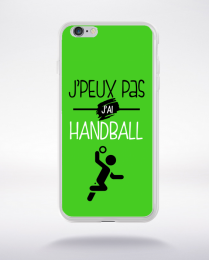 Coque j'peux pas j'ai handball 7 compatible iphone 6 transparent