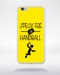 Coque j'peux pas j'ai handball 1 compatible iphone 6 transparent
