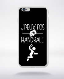 Coque j'peux pas j'ai handball 9 compatible iphone 6 transparent