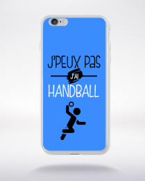 Coque j'peux pas j'ai handball 8 compatible iphone 6 transparent