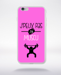 Coque j'peux pas j'ai muscu 4 compatible iphone 6 transparent