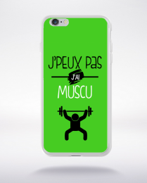Coque j'peux pas j'ai muscu 6 compatible iphone 6 transparent