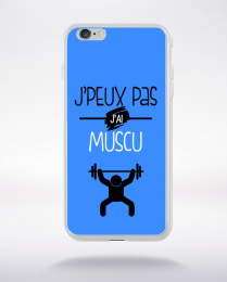 Coque j'peux pas j'ai muscu 7 compatible iphone 6 transparent