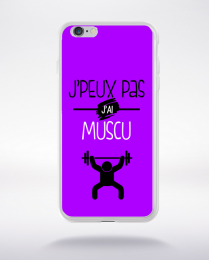 Coque j'peux pas j'ai muscu 2 compatible iphone 6 transparent