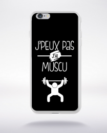 Coque j'peux pas j'ai muscu 8 compatible iphone 6 transparent