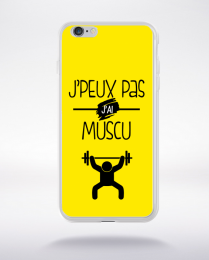 Coque j'peux pas j'ai muscu 9 compatible iphone 6 transparent