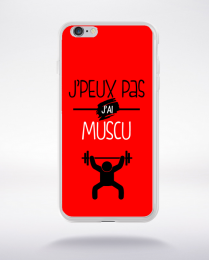 Coque j'peux pas j'ai muscu 1 compatible iphone 6 transparent