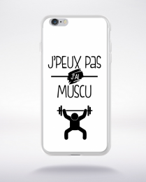 Coque j'peux pas j'ai muscu 10 compatible iphone 6 transparent