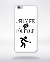 Coque j'peux pas j'ai pétanque 2 compatible iphone 6 transparent