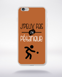 Coque j'peux pas j'ai pétanque 6 compatible iphone 6 transparent