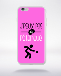 Coque j'peux pas j'ai pétanque 7 compatible iphone 6 transparent