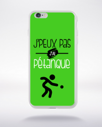Coque j'peux pas j'ai pétanque 9 compatible iphone 6 transparent