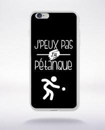 Coque j'peux pas j'ai pétanque 1 compatible iphone 6 transparent