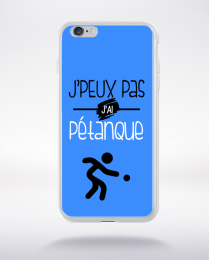 Coque j'peux pas j'ai pétanque 10 compatible iphone 6 transparent