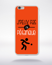 Coque j'peux pas j'ai pétanque 8 compatible iphone 6 transparent