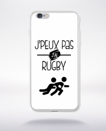 Coque j'peux pas j'ai rugby 2 compatible iphone 6 transparent