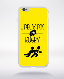 Coque j'peux pas j'ai rugby 3 compatible iphone 6 transparent