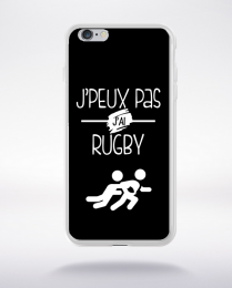Coque j'peux pas j'ai rugby 1 compatible iphone 6 transparent