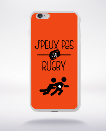 Coque j'peux pas j'ai rugby 8 compatible iphone 6 transparent
