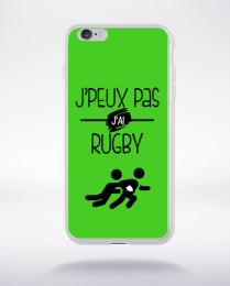 Coque j'peux pas j'ai rugby 9 compatible iphone 6 transparent