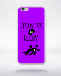 Coque j'peux pas j'ai rugby 5 compatible iphone 6 transparent