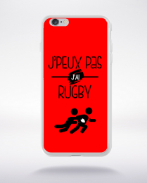 Coque j'peux pas j'ai rugby 4 compatible iphone 6 transparent