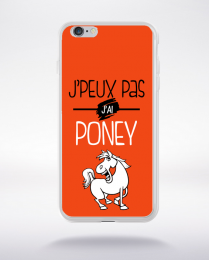 Coque j'peux pas j'ai poney 8 compatible iphone 6 transparent