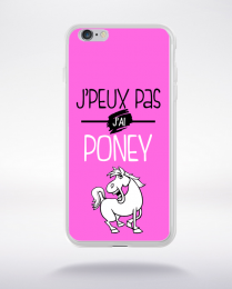 Coque j'peux pas j'ai poney 7 compatible iphone 6 transparent