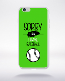 Coque sorry i can't i have baseball 9 compatible iphone 6 transparent