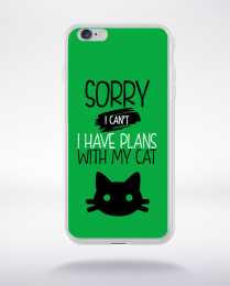 Coque sorry i can't i have plans with my cat compatible iphone 6 transparent