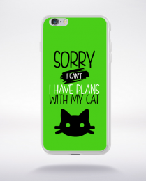 Coque sorry i can't i have plans with my cat 9 compatible iphone 6 transparent