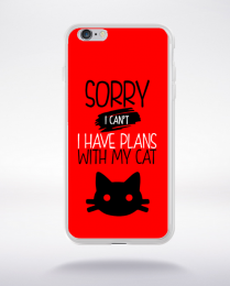 Coque sorry i can't i have plans with my cat 4 compatible iphone 6 transparent