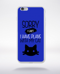Coque sorry i can't i have plans with my cat 2 compatible iphone 6 transparent