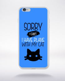 Coque sorry i can't i have plans with my cat 10 compatible iphone 6 transparent