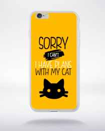 Coque sorry i can't i have plans with my cat 3 compatible iphone 6 transparent