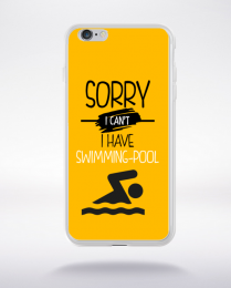 Coque sorry i can't i have swimming pool 3 compatible iphone 6 transparent