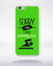 Coque sorry i can't i have swimming pool 9 compatible iphone 6 transparent