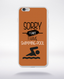 Coque sorry i can't i have swimming pool 6 compatible iphone 6 transparent