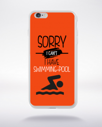Coque sorry i can't i have swimming pool 8 compatible iphone 6 transparent