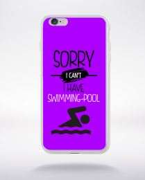 Coque sorry i can't i have swimming pool 5 compatible iphone 6 transparent